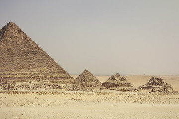 Egypt, Cairo, Pyramids at Giza