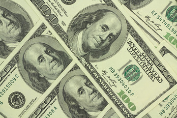 hundred-dollar bills American abstract background