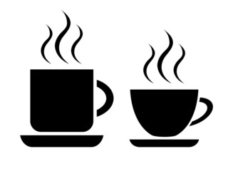 Tea and coffee cup icon