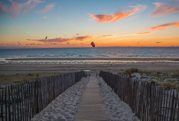 France, Aquitane, Mont-de-Marsan, Beach path