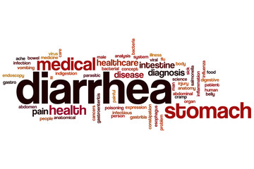 Diarrhea word cloud