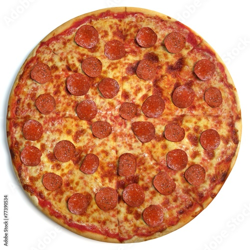 Pizza top view - 77390534
