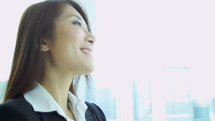 Happy Asian Chinese Female Financial Consultant Close Up