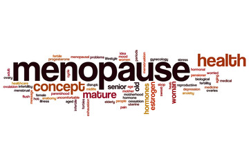 Menopause word cloud
