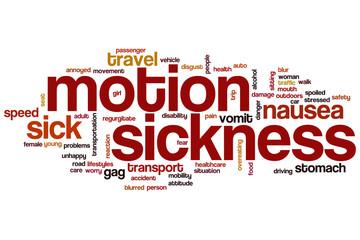 Motionsickness word cloud