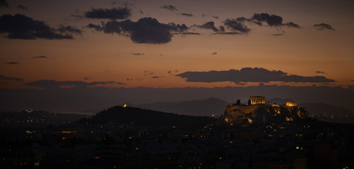 Athens, Greece, Acropolis View