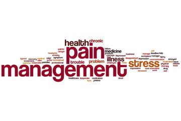 Pain management word cloud