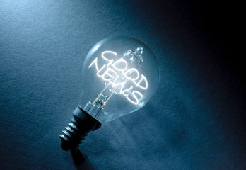 Good news light bulb