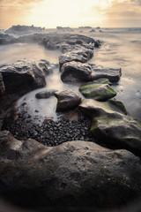 Bali, Mengening Beach at sunset