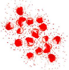 red spot blotch on white background