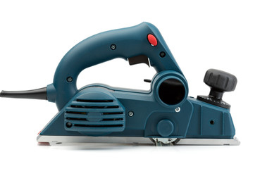 Professional electric planer, side view.