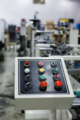 Control panel of the equipment
