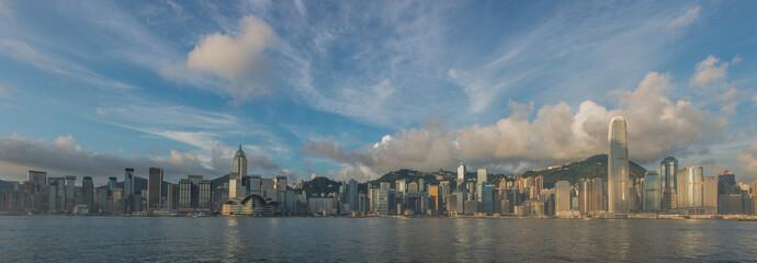 China, Hong Kong, View of city and sea