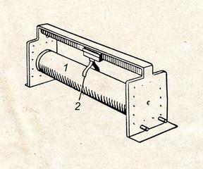 Slide rheostat (variable resistor)