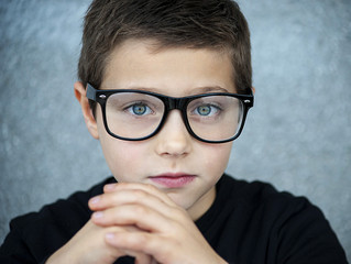 Croatia, Smart boy with glasses
