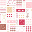 Hearts. Seamless vector pattern for Valentine's Day or wedding
