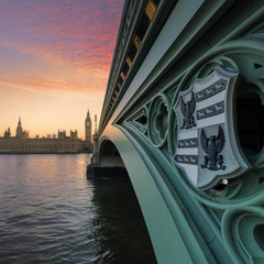 UK, London, Westminster Bridge and Big Ben