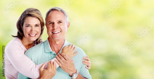 Happy senior couple. - 77397773