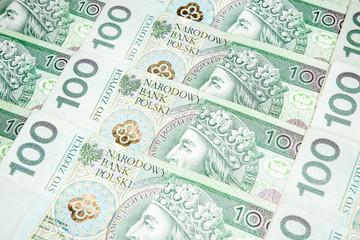 100 zloty banknotes - Polish currency