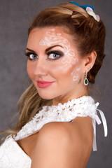 Portrait of a young attractive bride