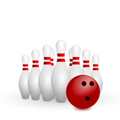 bowling on a white background