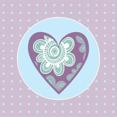decorative heart Valentine on a gentle background for Valentine'