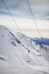 T-bar ski lift detail