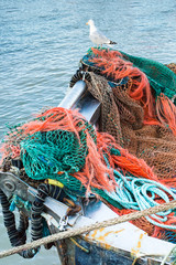 Fishing Nets and a seagull