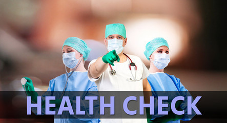 healt check medical background