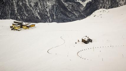 Mountain shelter in austrian Alps