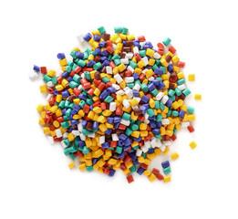 Top view of plastic pellets