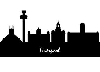 Liverpool Skyline with Typography Design