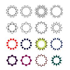 Vector set of geometric design elements. Contour graphics