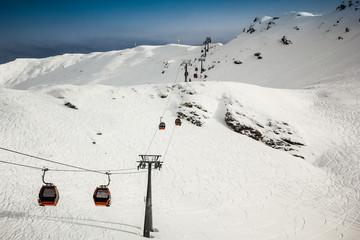Cable car at Heiligenblut ski resort (Austrian Alps)