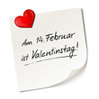 Постер, плакат: Valentinstag Memo