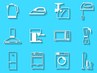 Set of the vector icons