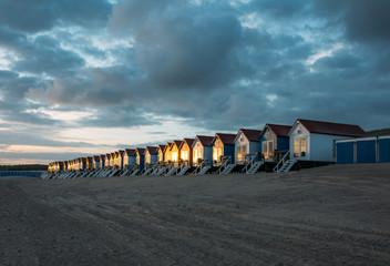 Holland, Beach houses at dusk