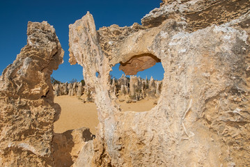 Australia, Nambung National Park, Cervantes, View of Pinnacles