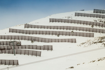 Avalanche protection on Shareck slope (austrian Alps)