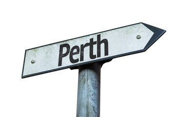 Perth sign isolated on white background