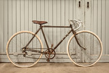 Vintage racing bicycle in an old factory