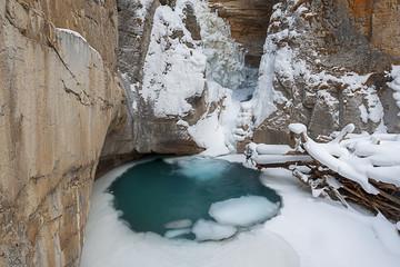 Canada, Banff, Johnston Canyon in winter