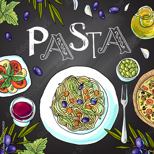 italian pasta - 77404109