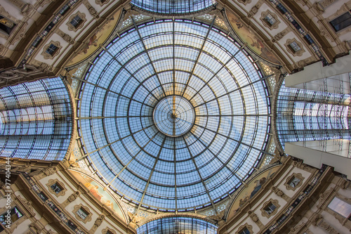 Foto op Canvas Artistiek mon. Milano - galleria Vittorio Emanuele