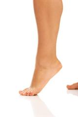 Women leg with overweight