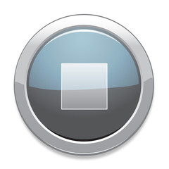 Stop Sign Icon / Light Gray Button