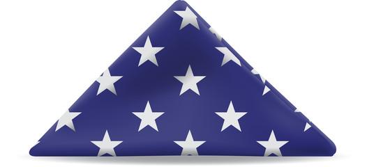 Folded U. S. Flag
