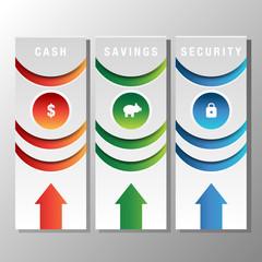 Financial Bookmark Icon