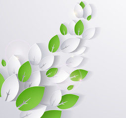 paper eco leaves abstract background