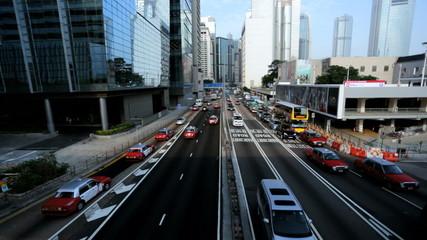 Commuter traffic highway 2 IFC, Hong Kong, China
